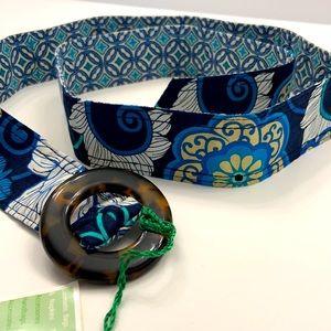 NWT Vera Bradley reversible belt - Mod Floral Blue